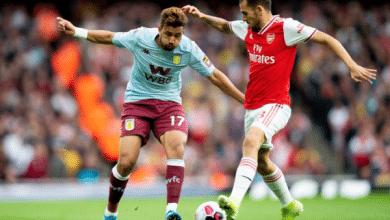 موعد مباراة أستون فيلا ضد آرسنال والقنوات الناقلة في الدوري الإنجليزي