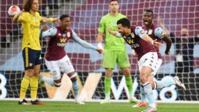 نتيجة وأهداف مباراة أستون فيلا ضد آرسنال بالدوري الإنجليزي
