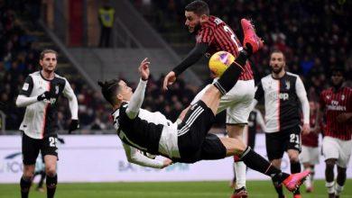 مباشر موعد مباراة ميلان ضد يوفنتوس والقنوات الناقلة