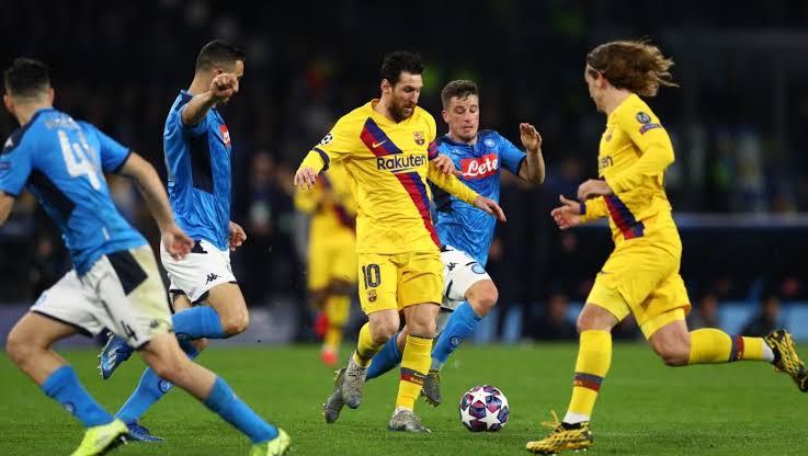 كوره اون لاين بث مباشر مباراة برشلونة ونابولي