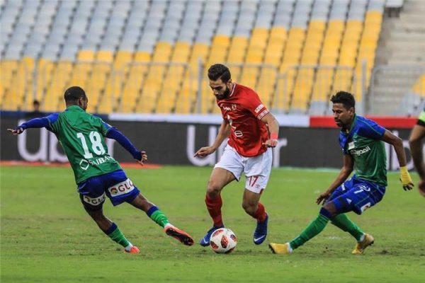 نتيجة وأهداف مباراة الأهلي ضد مصر المقاصة في الدوري المصري