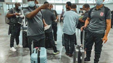 بعثة الأهلي تتوجد في مطار القاهرة استعدادًا لرحلة المغرب