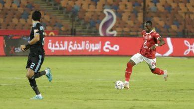 صورة مباراة الأهلي وبيراميدز | شوط أول سلبي وطرد وإصابة
