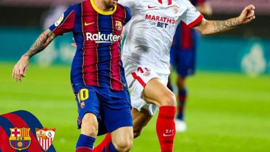 صورة ملخص وأهداف مباراة برشلونة ضد إشببليه في الدوري الإسباني