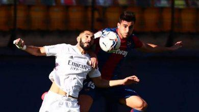 صورة نتيجة مباراة ليفانتي ضد ريال مدريد في الدوري الإسباني