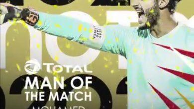 محمد الشناوي يفوز بجائزة أفضل لاعب في مباراة الأهلي والوداد البيضاوي