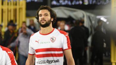 صورة إصابة محمود علاء في مباراة الزمالك وحرس الحدود