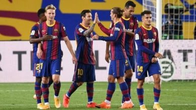 التشكيل الرسمي لمباراة برشلونة ضد فرينكفاروزي في دوري أبطال أوروبا