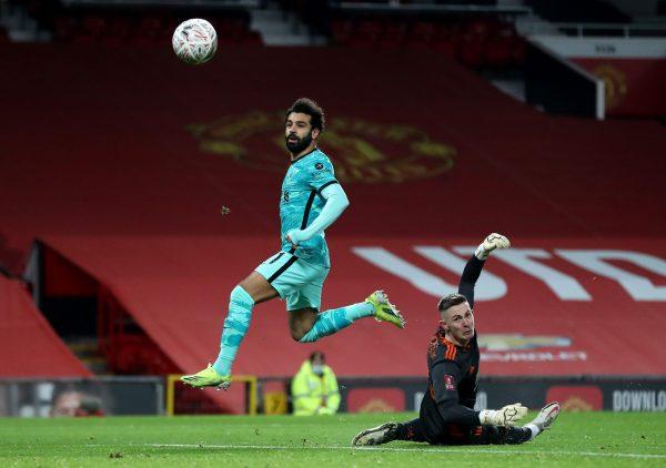 شاهد أهداف محمد صلاح في مباراة ليفربول ومانشستر يونايتد اليوم بكأس الاتحاد الإنجليزي