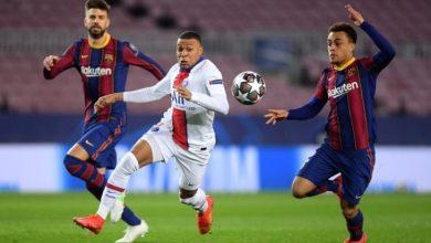نتيجة مباراة برشلونة اليوم ضد باريس سان جيرمان في دوري أبطال أوروبا