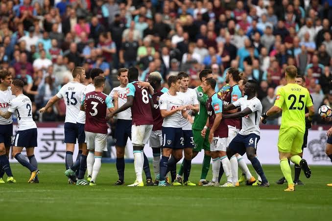 نتيجة مباراة وست هام يونايتد اليوم ضد توتنهام في الدوري الانجليزي