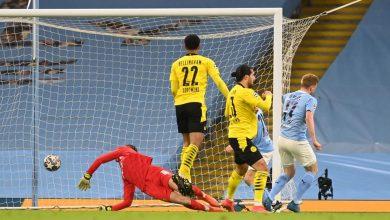 نتيجة وأهداف مباراة مانشستر سيتي ضد بروسيا دورتموند في دوري أبطال أوروبا